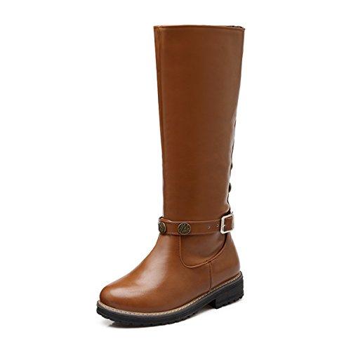 Meijia , M盲dchen Damen Biker Boots style 4-Brown