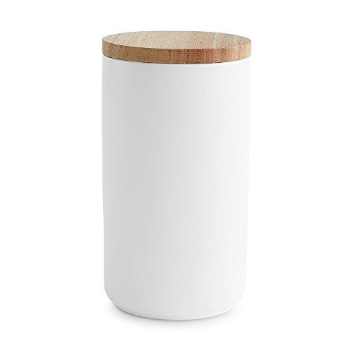 Keramik Vorratsdosen mit Holzdeckel Sweet Scandi   Luftdichter Kautschukholz-Deckel   Aufbewahrungsdosen   Frischhaltedosen (Magazin Sweets)