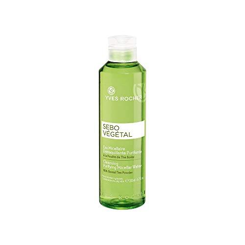 Yves Rocher SEBO VÉGÉTAL reinigendes Eau Micellaire, Mizellenwasser für Gesicht & Augen, belebt & mattiert, 1 x Flacon 200 ml