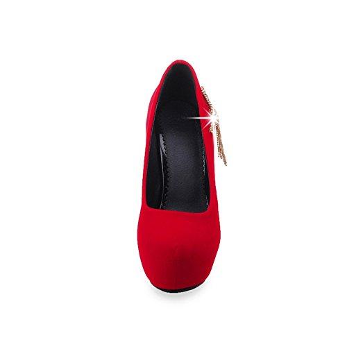 UH Sandales femme red Compensées fille wqxfwprPA