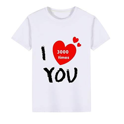 squarex ® Kleinkind Jungen Ich Liebe Dich Brief gedruckt T-Shirt Baby Kurzarm Kinder Bluse Mädchen Casual Tops Bequeme Kleidung -