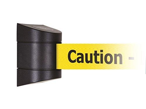 Tensabarrier 897-15-M-33-NO-YAX-D Wall Magnet Mount Black Caps, No Custom Yellow Webbing/Black Caution - Do Not Enter Magnet Belt End, 15' by Tensabarrier -
