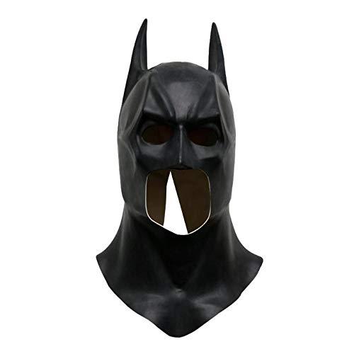 Realistische Batman Kostüm - KBWL Batman Masken Realistische Halloween Vollgesichts Latex Batman Muster Maske Kostüm Party Masken Karneval Cosplay Requisiten
