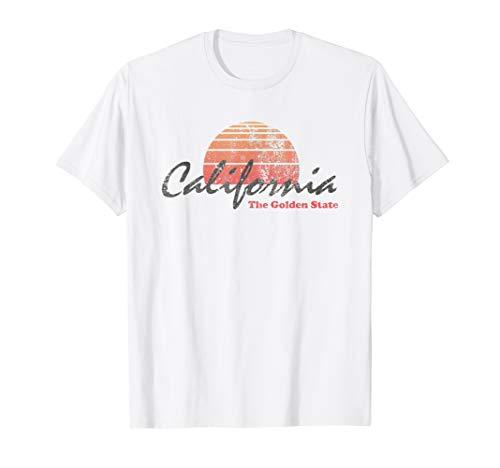 Retro California T Shirt 80s Design -