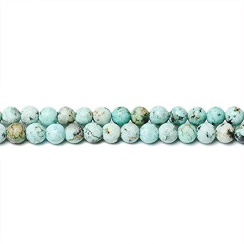 Strang 160+ Blau/Grün Afrikanische Jaspis 2mm Rund Perlen CB31322-1 (Charming Beads) - Afrikanische Vol 2 Religion