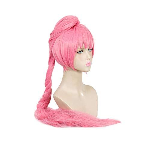 BAOTR Cosplay Perücke Süß Pink Schachtelhalm Langes Haar Perückenkappe Geeignet für Partys, Alltag, Make-up, Halloween, etc