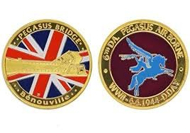 WW2 Memorial Commemorative Coin D Day Pegasus Bridge for sale  Delivered anywhere in UK