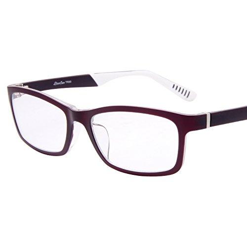 ce72ee3166b LianSan TR Rectangle Optical Frames Glasses Non-magnification For Women Men  TR8620 Purple - Buy Online in Oman.