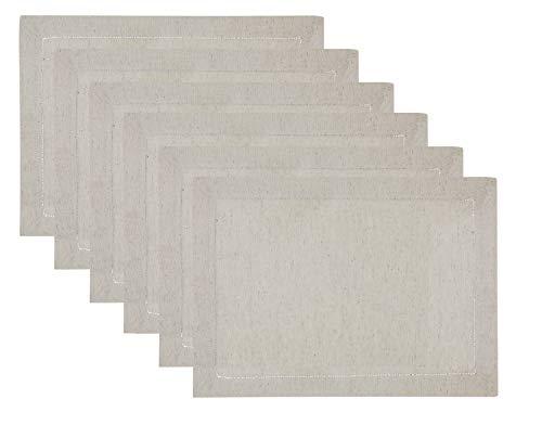 Sweet Needle Platzdeckchen, Leinen-Baumwolle, handgefertigt, Design Leiter, Spitze, gesäumt, 35 cm x 48 cm, Naturfarben - Spitze Gesäumt