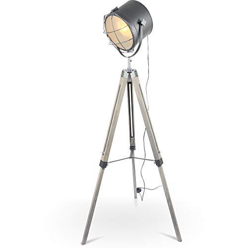 mojoliving MOJO® Stehleuchte Tripod Lampe Dreifuss Urban Design höhenverstellbar mq-l37 - Stativ Stehlampe