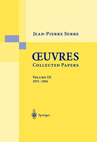 Oeuvres - Collected Papers: 1972 - 1984 (French and English Edition)