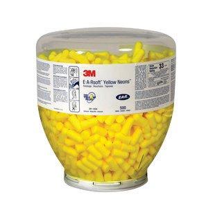 3M Einmalhandschuhe e-a-rsoft gelb Neons konisch Polyurethan-Schaumstoff uncorded Ohrstöpsel (500Stück)