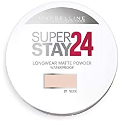 Maybelline New York Polvos Compactos Superstay 24H (Larga duración), Tono 21 Nude