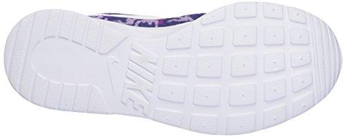 Nike Wmns Tanjun Print, Scarpe da Corsa Donna Multicolore (Hypr Vlt/White/Blchd Llc/Dk Pr)