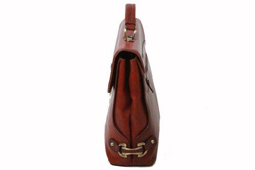Cartable Katana en cuir de Vachette collet K 82614 Rouge