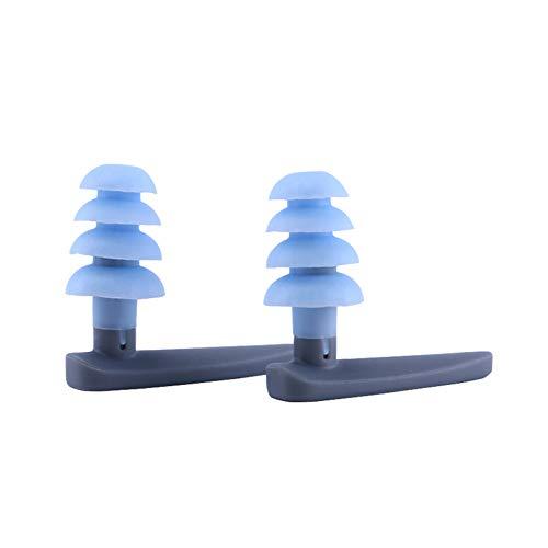 Bclaer72 Tapones auditivos acuáticos Unisex Biofuse para adultos, tapones auditivos biofuse acuáticos para natación(2 pcs,Blue)