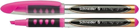 Schneider Xtra Highlighter Lot de 10 Surligneurs de poche avec Liquid-Ink-Technologie Encre rose