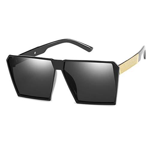 GJYANJING Sonnenbrille Mode Sonnenbrillen Frauen Vintage Platz Luxus Sonnenbrille Big Frame Shades Eyewear Augen Uv400