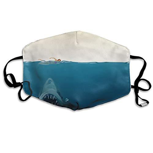 U are Friends Geometrische Jaw Shark Männer Womens Gesicht Mund Maske Staub Pollen Allergien Grippe Radfahren Atemschutzmaske wiederverwendbar