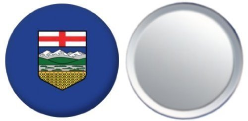 Miroir insigne de bouton Canada Alberta drapeau - 58mm