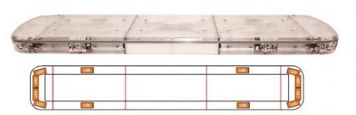 Preisvergleich Produktbild LED Lichtwarnbalken Serie 15 Lumi,  4-fach Blitz Größe 1240mm