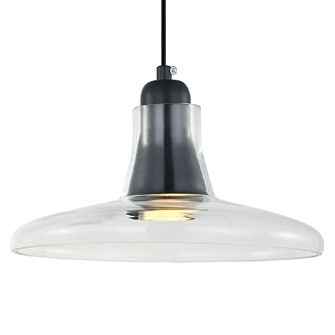 Ceiling lamp metal and glass in Clear Finish, with Screen Diameter 24cms and for Dichroic Bulb GU10LED or