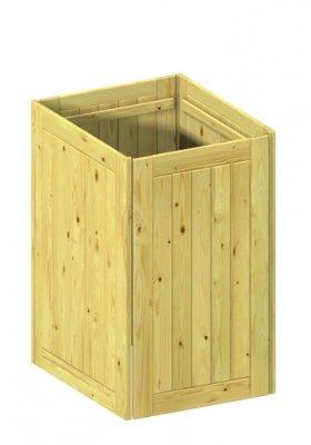 BINTO Mülltonnenbox Grundverkleidung Holz