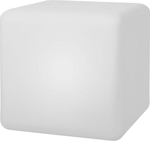 Telefunken Solar Cube 40 Connectivity Gartenleuchte, Würfel 40 cm, mit Funkempfänger, sanfter Farbwechsel, sehr hell mit 1,4W, austauschbare Akkus, hohe Ladeleistung von 1,5W, wasserdicht