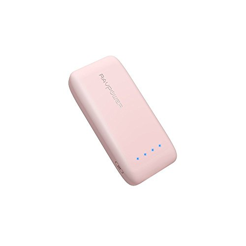 RAVPower-Bateria-Externa-6700mAh-5V24A-Tecnologa-iSmart-20-Power-Bank-Para-Smartphone-Samsung-iPhone-Huawei-Xiaomi-etc-Sakura-Rosa