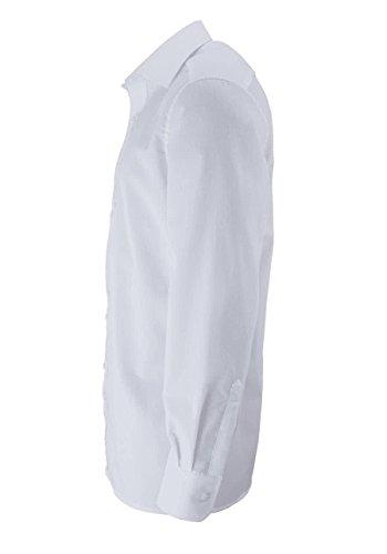 Eterna Herren Hemd Modern Fit Extralange Ärmel Weiß