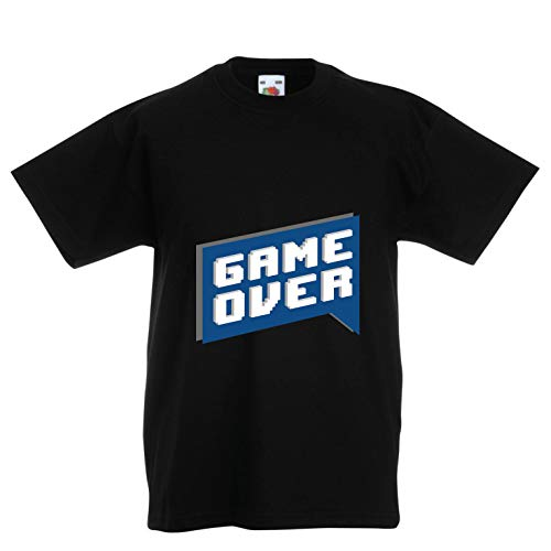 lepni.me Kinder Jungen/Mädchen T-Shirt Spiel vorbei, Videospiel-Shirt Geschenk für einen Spieler (12-13 Years Schwarz Mehrfarben)