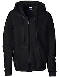 Gildan - Sweatshirt à capuche et fermeture zippée - Femme