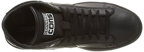 Converse Pro Leather Lp Mid Leather Unisex-Erwachsene Hohe Sneaker Black Monochrome