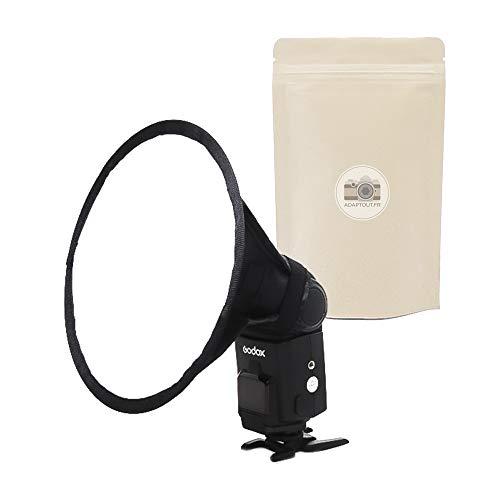Softbox rotondo per flash, diffusore circolare, universale, diametro 20 cm, compatibile con tutte le marche Speedlight Canon, Nikon, Sony, Olympus, Pentax