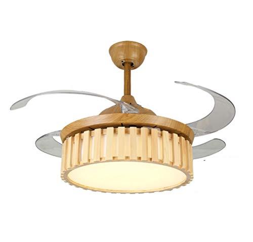 H.l ventilatori da soffitto da 42 pollici con lampada stile semplice fan lampadario moderno soggiorno ristorante ventilatore a sospensione illuminazione, interruttore di controllo remoto