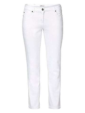 sheego Denim Damen Jeans große Größen weiß 48/4XL kurz