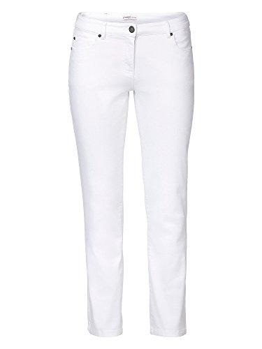 sheego Denim Damen Jeans große Größen Weiß