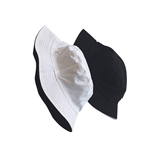 Chunyang Frauen Männer Mädchen Fischer-Hut Doppelseiten Kopfbedeckung Sommersonnenschutzmassiv Cap 56-58cm Hüte, Caps, Kopfbedeckungen