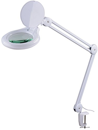 Komerci KML-9003-3D-LED Kaltlicht Lupenleuchte Lupenlampe, 125mm 3-D Linse, 14W mit Dimmer Kosmetik,...