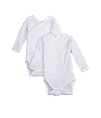 Petit Bateau - Body - Uni - Lot de 2 - Mixte bébé, Blanc (Ecume), FR : 0-3 mois (Taille Fabricant : N46)