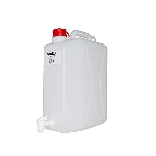Pieghevoli BPA-Free 5L per Uso Alimentare Quadrate Relaxdays 10020963/_670 Set 4 Taniche Acqua con Manico e Rubinetto