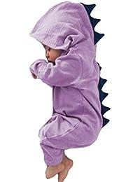 1e30afebe49a Mxssi Neonato Neonato Pagliaccetti Ragazzo Ragazza Natale Dinosaur con  Cappuccio Pagliaccetto Tuta Abiti Abiti