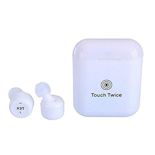 LayOPO X3T Wireless Bluetooth Kopfhörer, Mini in-Ear Dual-Stereo-schweiß-Noise Cancelling Kopfhörer für iPhone Android Weiß