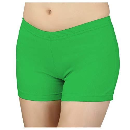 Damen Shorts Hotpants Kurze Hose Sport Shorts Baumwolle Sommershorts Fitness Shorts Bunte, Farbe: Grün, Größe: 38-40
