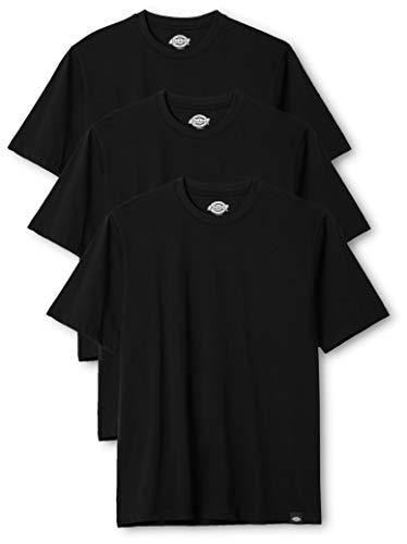 Dickies Herren Rundhals T-Shirt, 3er Pack, Black, S -