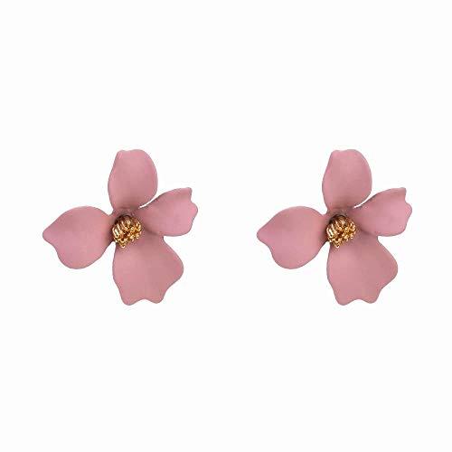 Orecchini Dolce Fiore Orecchini A Bottone Petalo Stereo Orecchini Selvatici Di Moda, Rosa