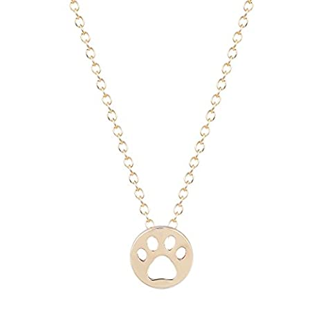 Animal Lover Gift Dog Paw Print Dye Cut Coin Shaped