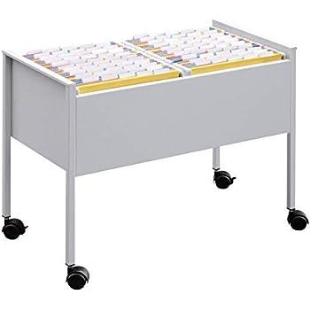 Carrello per 80 cartelle sospese A4 738x695x380 mm Carbone//Argento Metallizzato Durable 3076121 ripiano Inferiore con Spazio di archiviazione