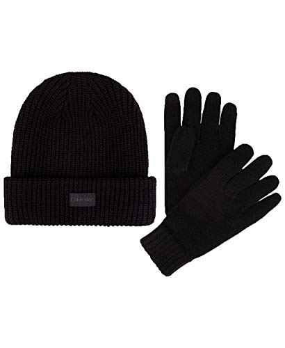 Calvin Klein Men's Hat & Glove Set (Charcoal)