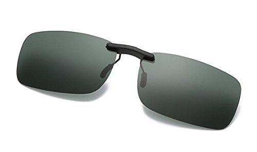 Flydo Polarisierte Sonnenbrille Clip für Brillenträger-Stil Sonnenbrille für Myopie Brille im Freien/Fahren/Angeln-Anti-UV (Clip Für Auf Sonnenbrillen Brillen)